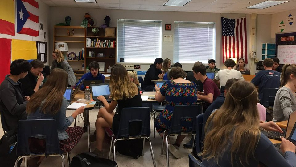 students taking the SOL test