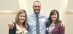 Beginning Teacher Award winners for Chesterfield County Public Schools: (left to right) Pamela Hooper, Jon Ferguson and Katelyn Bell.