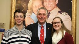 Students with McAuliffe