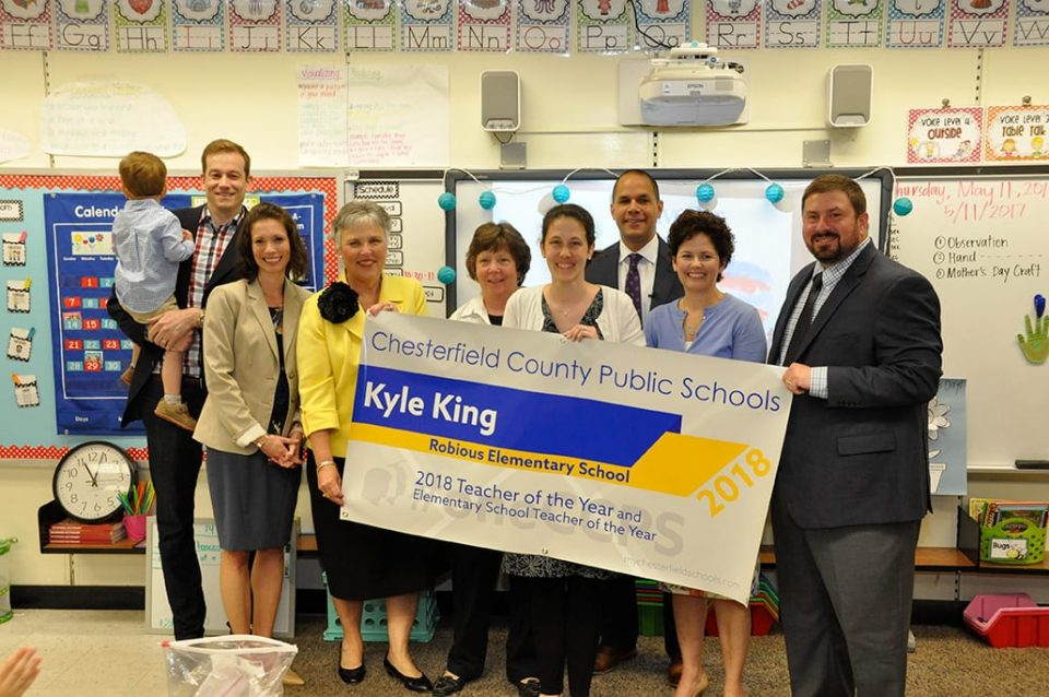 2018 Teacher of the Year Kyle King