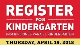Kindergarten registration is April 19, 2018