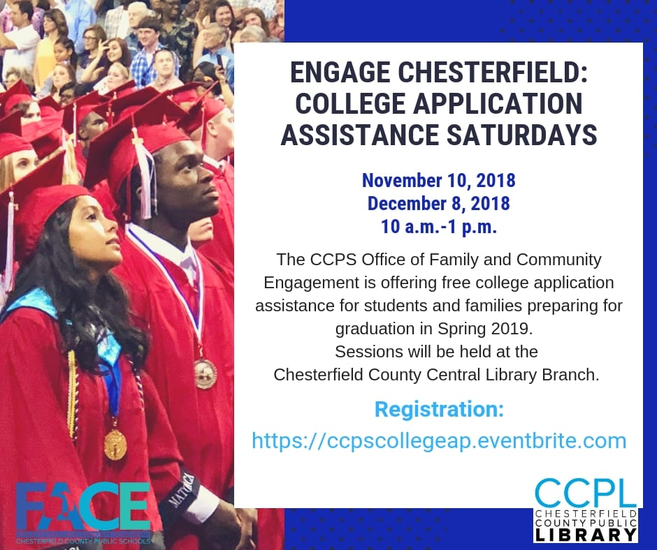 Brochure showing college grads with details about event