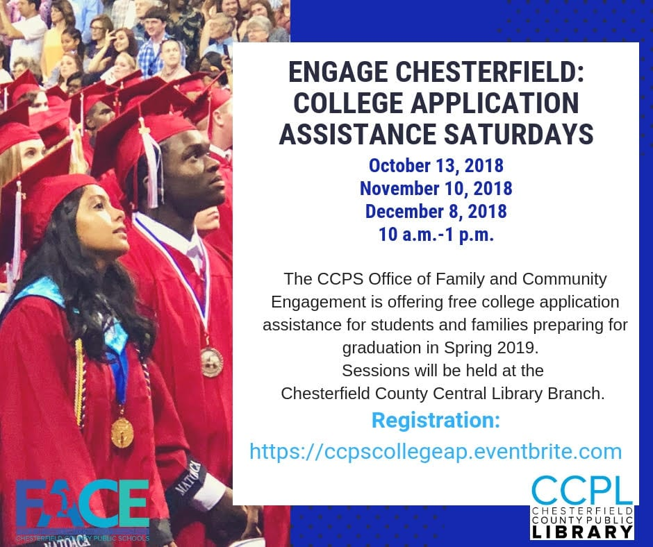 Engage Chesterfield: College Application Assistance Saturdays