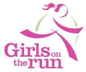 Sketch of a girl running logo