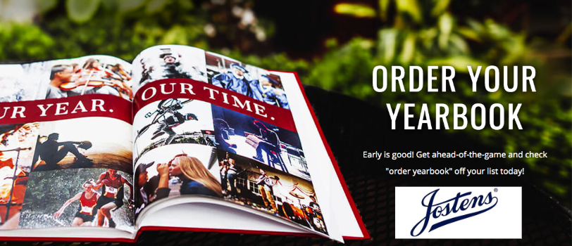 Yearbook advertisement with order button.