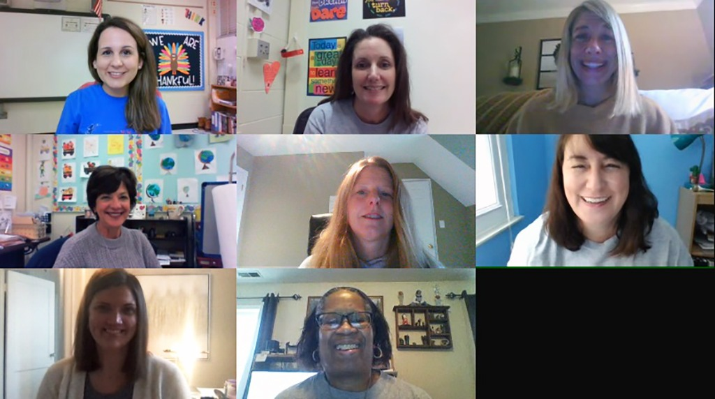 Group photo of teachers on Zoom
