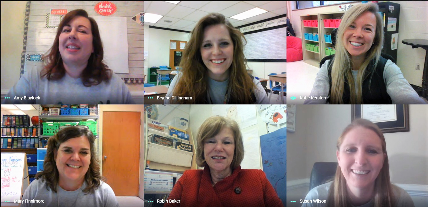 A screenshot of six teachers in a zoom call.