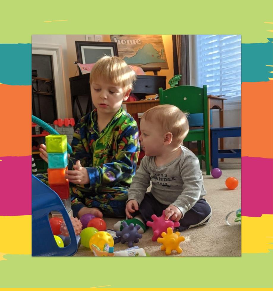 Children playing with blocks