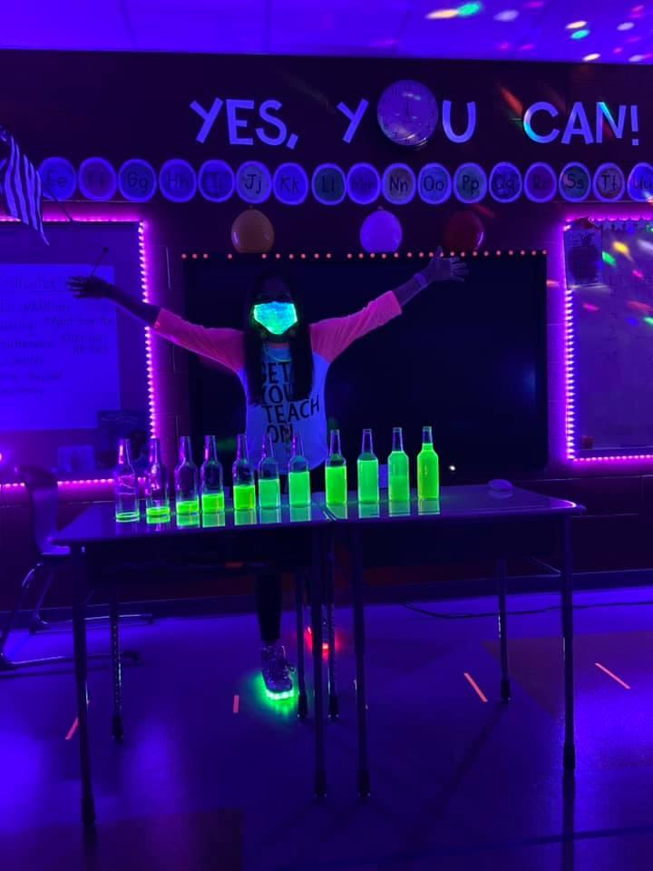 Glow in the dark science class
