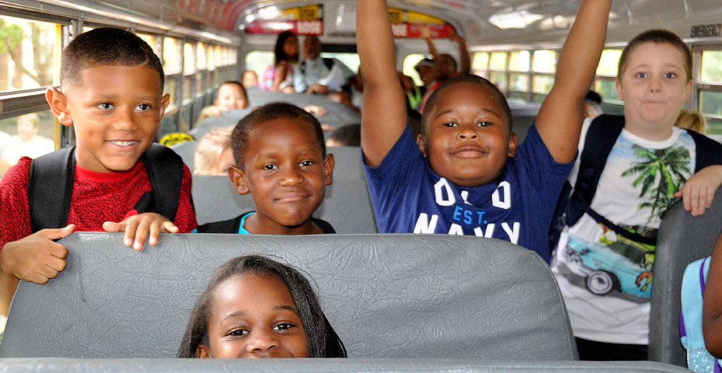 Providence Elementary Students first day of school