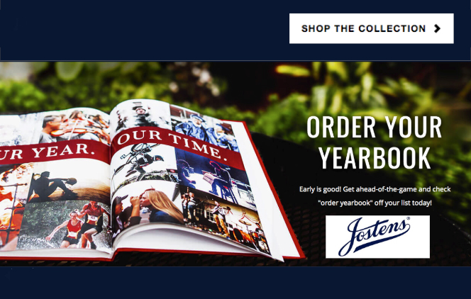 Yearbook graphic with order button