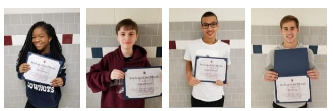 4 students hold up their certificates