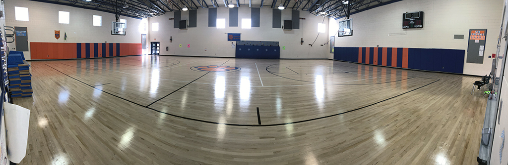 panoramic shot of our new gym