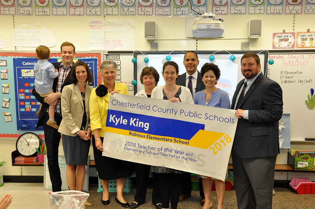 CCPS 2018 Teacher of the Year Kyle King