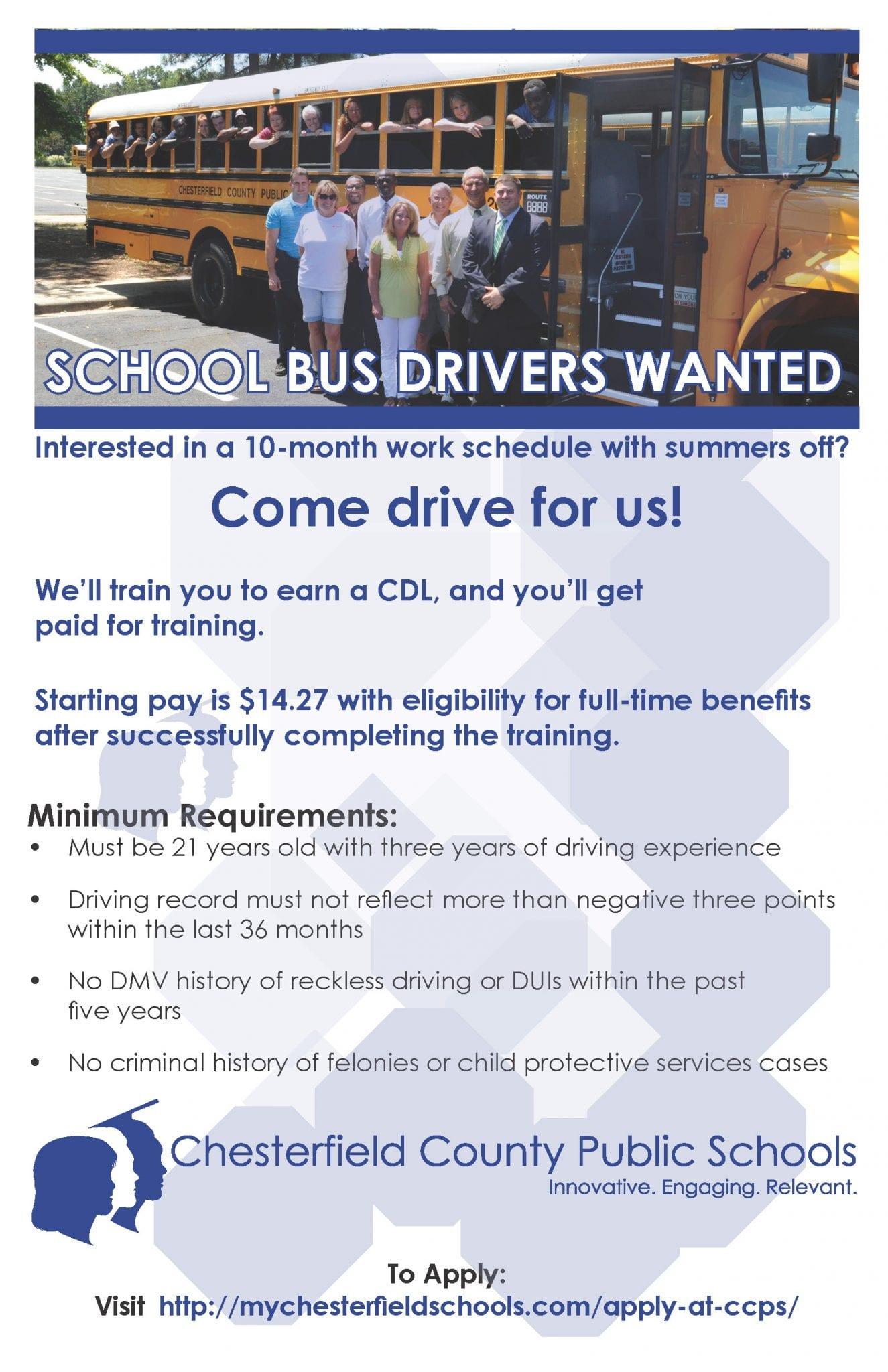 School Bus Driver Job Fair