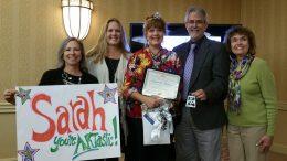 Sarah Matthews Art Educator of the Year.
