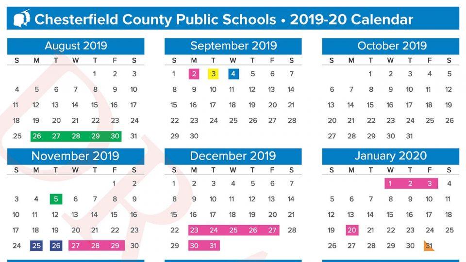 Proposed 2019 20 School Calendar Chesterfield County Public Schools
