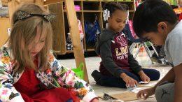 Kindergarten Students Working